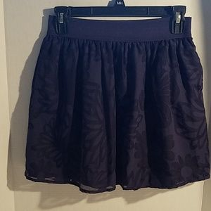 Lily Pulitzer Blue Floral Lined Skirt Size S